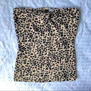 Cheetah Animal Print Tube Top